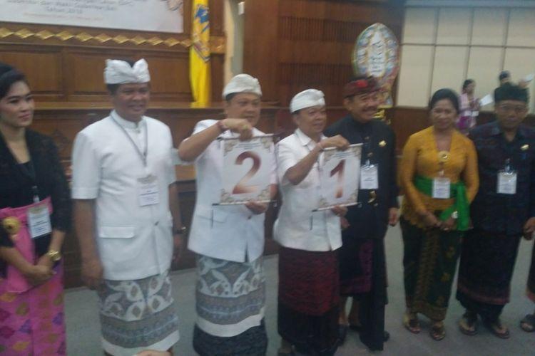 Kpu bali gelar rapat pleno Pengundian nomor urut pasangan calon Pilkada Bali