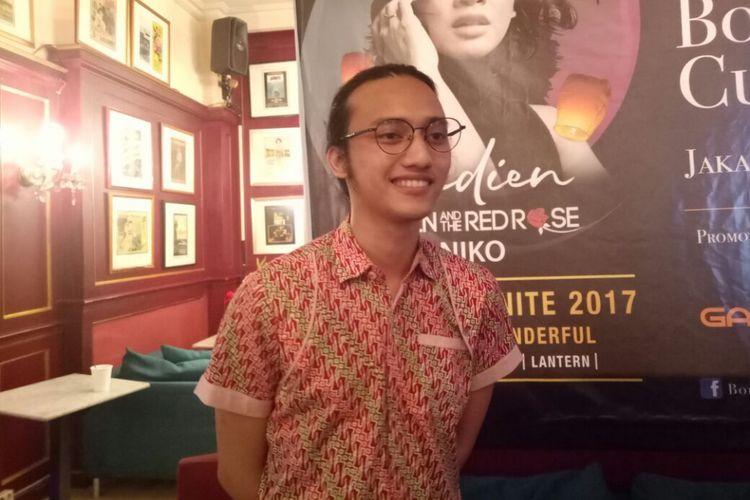 Ilyas Kevin and The Red Rose saat ditemui pada jumpa pers Borobudur Nite & Cultural Feast 2017 di kawasan Sarinah, Jakarta Pusat, Kamis (7/12/2017).