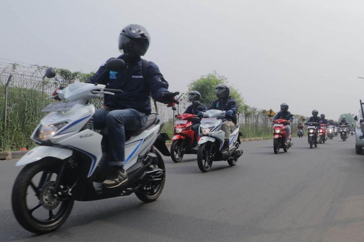 Kegiatan test ride Suzuki Nex II