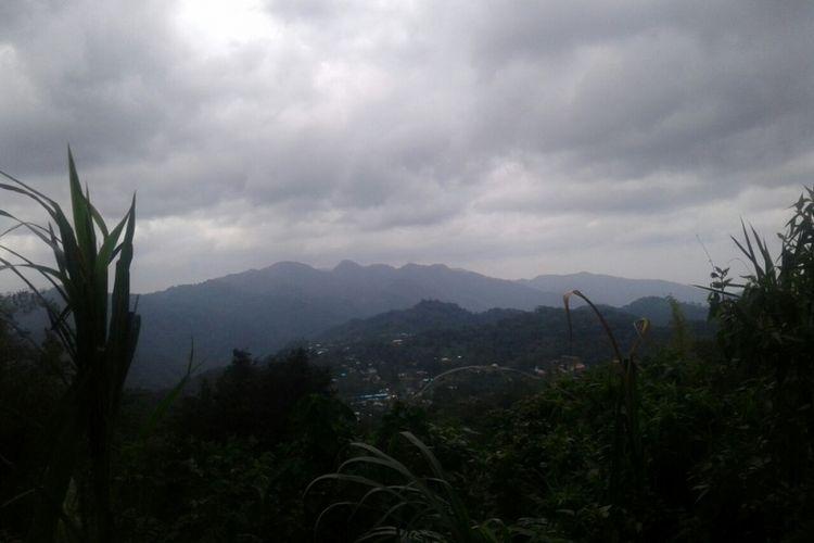 Pemandangan di Kecamatan Elar, Kabupaten Manggarai Timur, Flores, NTT, Rabu (31/1/2018).