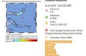 Gempa Hari Ini: M 5,4 Terasa di Sebagian Wilayah Sulawesi Utara