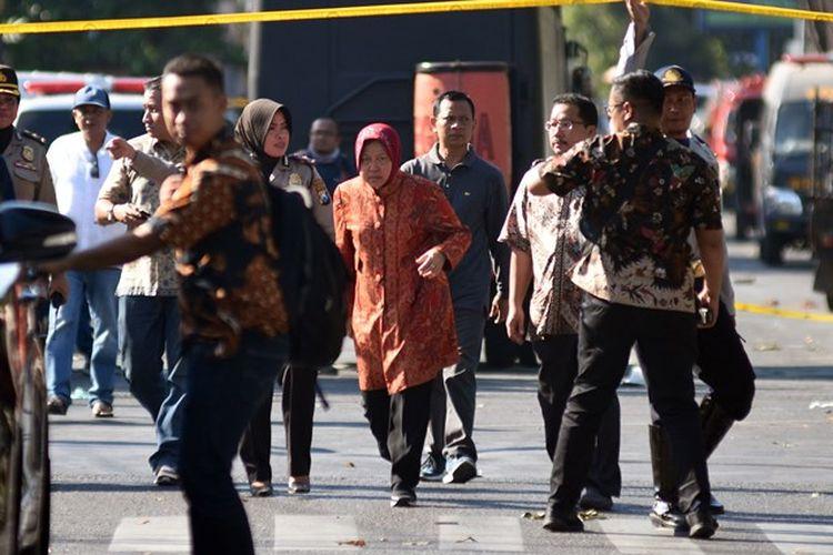 Wali Kota Surabaya Tri Rismaharini di Gereja Santa Maria Tak Bercela Ngagel