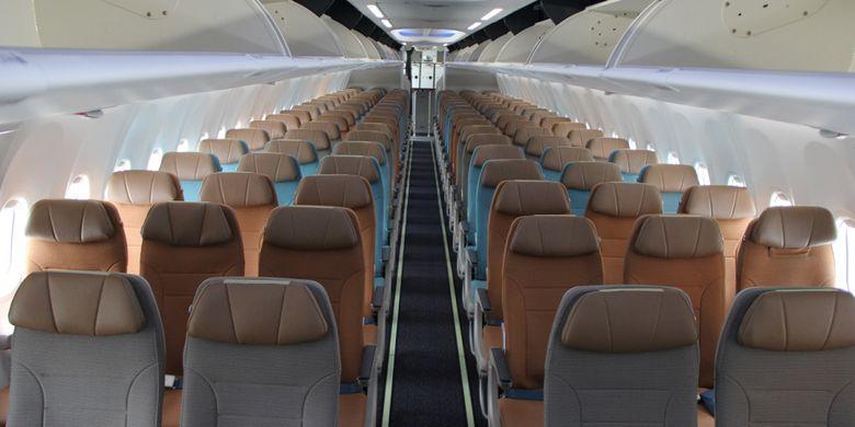 Kursi ekonomi di pesawat Boeing 737 MAX 8 telah dioperasionalkan oleh Garuda Indonesia, di Bandara Soekarno-Hatta, Tangerang, Minggu (7/1/2018).