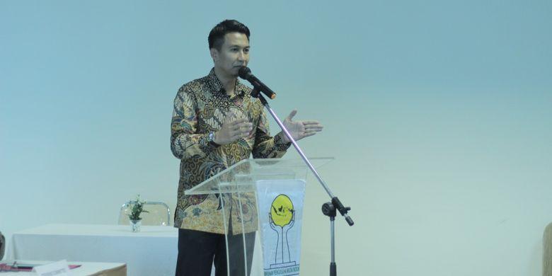 Bagas Adhadirgha, calon ketua umum Badan Pengurus Pusat Himpunan Pengusaha Muda Indonesia (BPP HIPMI) 2019-2022 pada acara Silaturahim Pengusaha Nasional di Ritz Carlton, Minggu (26/5/2019).