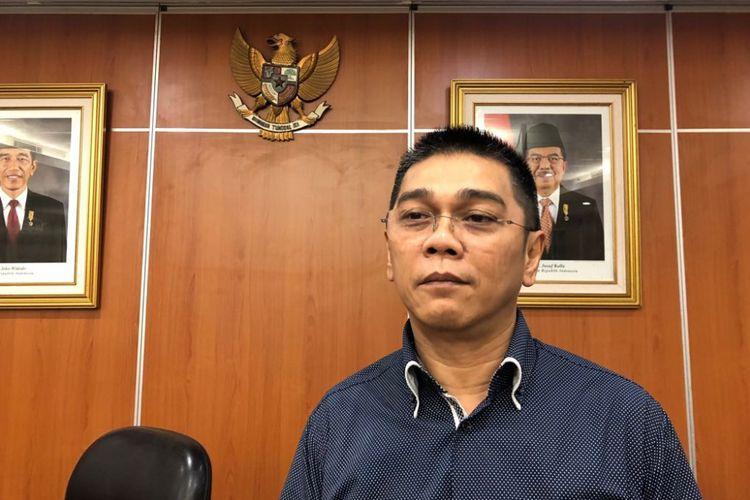 Ketua Komisi D DPRD DKI Jakarta Iman Satria di Gedung DPRD DKI, Selasa (7/8/2018). (KOMPAS.com/JESSI CARINA )