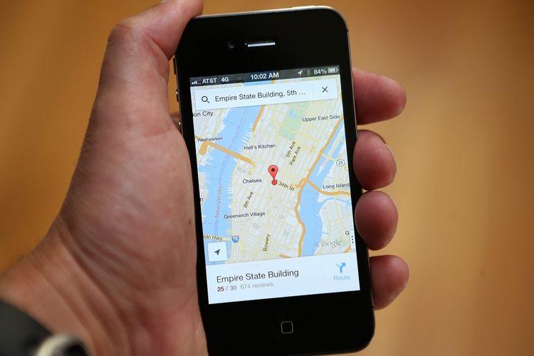 ilustrasi penggunaan Google Maps