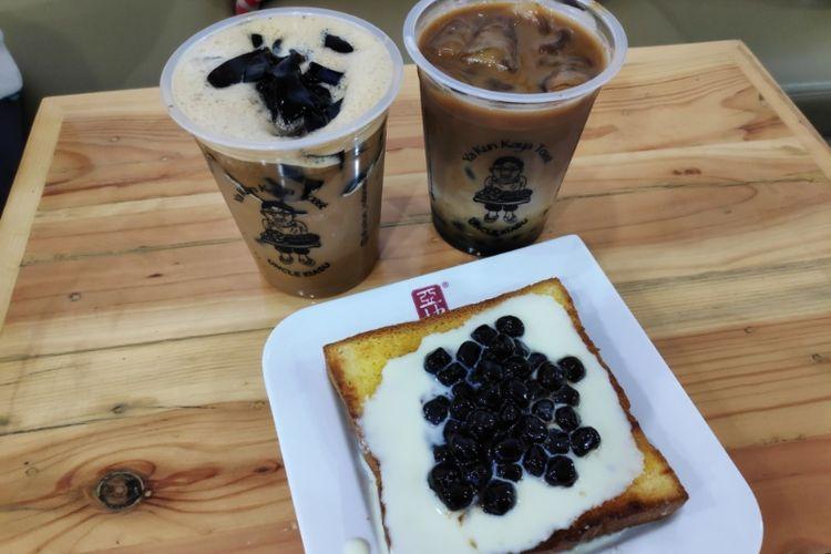 Ya Kun Kaya Toast meluncurkan minuman dam makanan dengan toping boba.