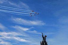 Menarik dan Langka, Pesawat Jupiter Aerobatic Berakrobat di Langit Pekanbaru