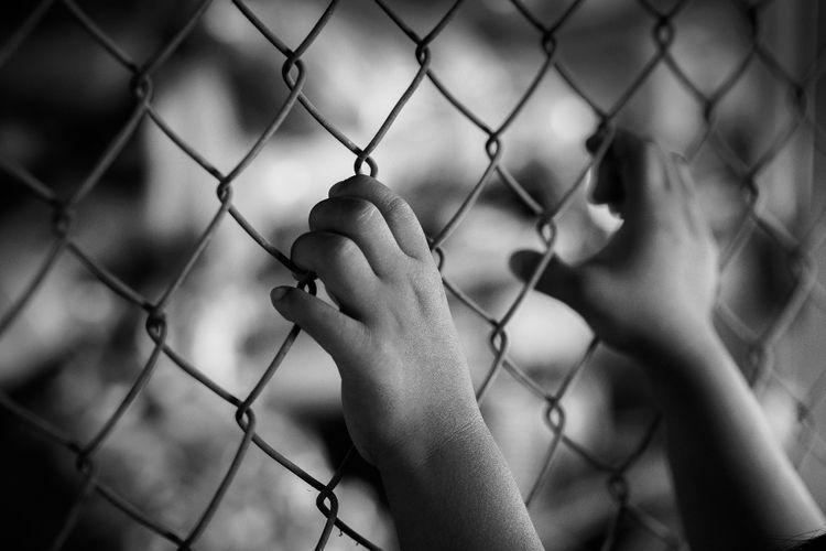 Ilustrasi tahanan anak.