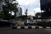 Ada Pembongkaran Konstruksi Stasiun MRT, Lajur Jalan Sudirman Dikurangi