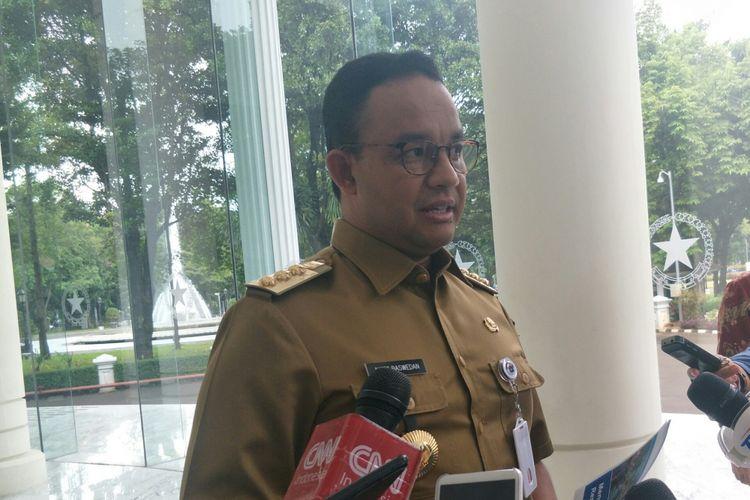 Gubernur DKI Jakarta Anies Baswedan di Kantor Wakil Presiden, Jakarta, Senin (11/3/2019)