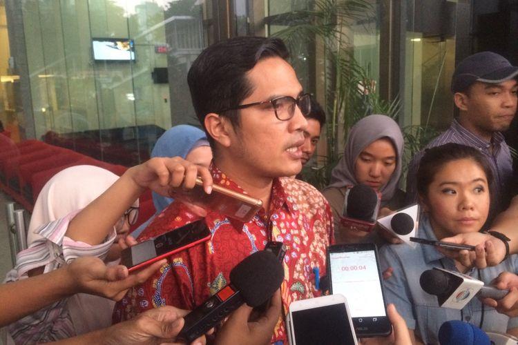 Juru Bicara Komisi Pemberantasan Korupsi (KPK) Febri Diansyah saat ditemui Gedung Merah Putih KPK, Jakarta, Kamis (12/7/2018).
