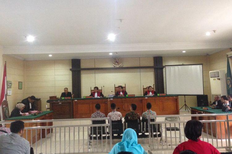 Sidang penganiayaan taruna Akpol di Pengadilan Negeri Semarang, Kamis (2/11/2017).