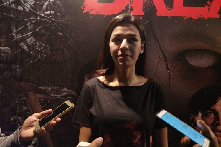 Susan Sameh dalam jumpa pers peluncuran poster dan trailer film Dreadout di CGV Grand Indonesia, Thamrin, Jakarta Pusat, Jumat (30/11/2018).