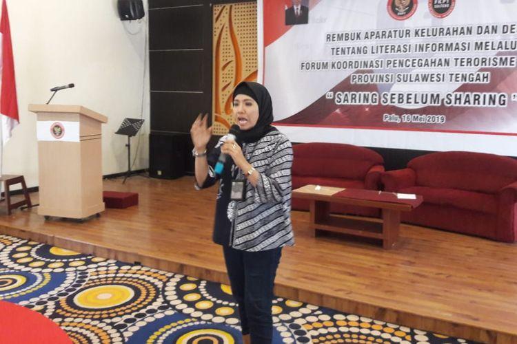 Vokasi UI bersama BNPT dan FKPT Sulteng menggelar  ?Saring Sebelum Sharing, Pencegahan Terorisme Berbasis Akurasi Informasi di Palu Sulawesi Tengah (16/5/2019).
