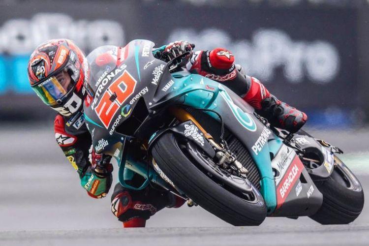 Fabio Quartararo finis di urutan kedelapan di GP Le Mans 2019.