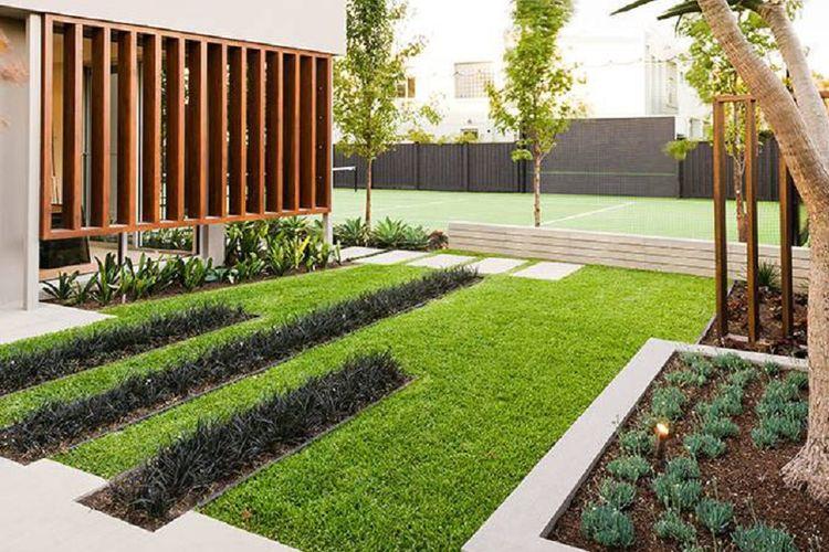 Taman minimalis di Garrel Street, Australia