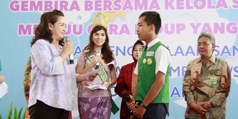 Ketua TP PKK Kota Semarang, Tia Hendrar Prihadi, pada acara edukasi pengelolaan sampah di Balaikota Semarang, Rabu (10/5/2017).