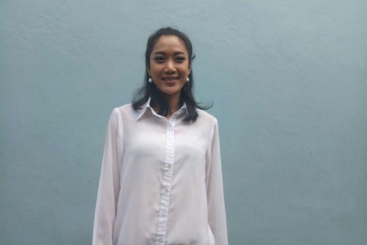 Widy Vierratale saat dijumpai di kawasan Tendean, Jakarta Selatan, Kamis (11/1/2018).