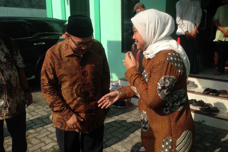 Sudirman Said dan Ida Fauziyah saat menyambangi kantor PWNU Jawa Tengah, Senin (16/4/2018) kemarin.