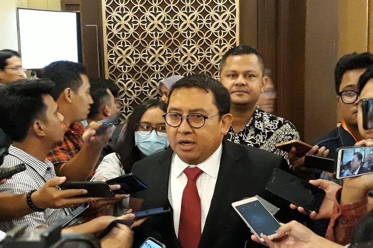Wakil Ketua Umum Partai Gerindra, Fadli Zon, di Hotel Sultan, Jakarta Pusat, Kamis (28/3/2019).