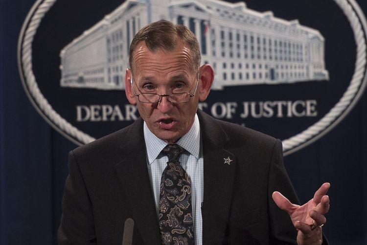 Kepala Secret Service Randolph Tex Alles yang akan segera mengundurkan diri.(AFP / ANDREW CABALLERO-REYNOLDS)