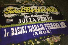 Ahok Kirim Karangan Bunga untuk Julia Perez