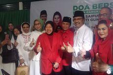 Risma Dampingi Puti Guntur dari Bandara hingga Daftar ke KPU