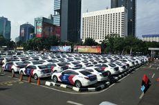 Area Parkir Polda Metro Jaya yang Sempat Dijadikan