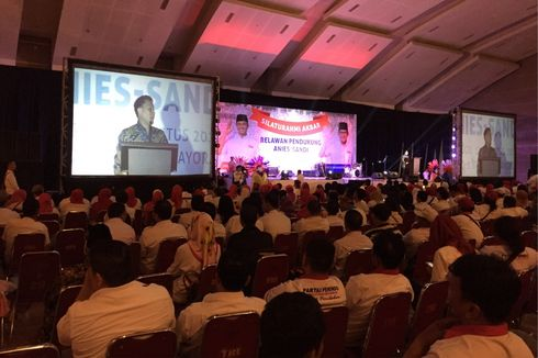 Tim Anies-Sandi: Terima Kasih kepada Relawan, Keren Banget...