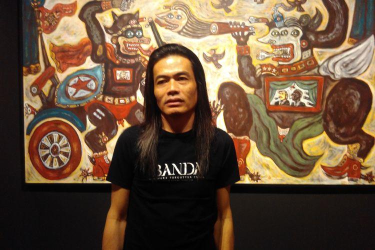 Sutradara Jay Subyakto ditemui di sela pameran Lingkage: 20 Yeats OHD Museum, Kota Magelang, Jawa Tengah, Sabtu (20/5/2017).