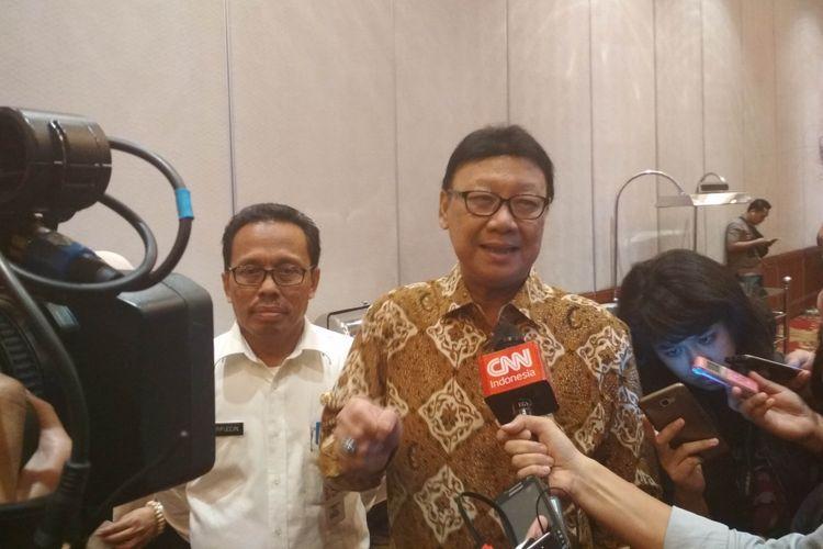 Menteri Dalam Negeri Tjahjo Kumolo di Jakarta, Kamis (15/6/2017).