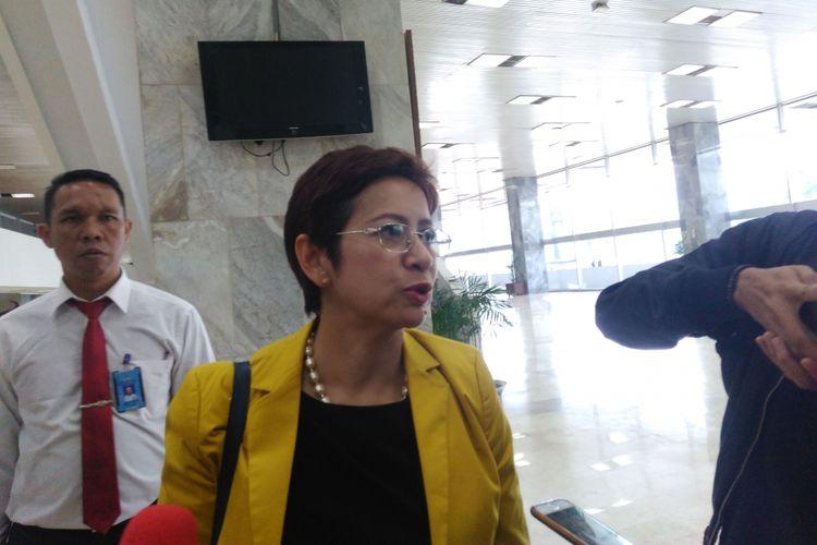 Politisi Partai Golkar Nurul Arifin di Gedung DPR, Jakarta, Selasa (18/7/2017)