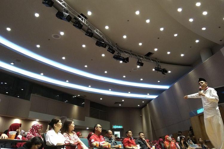 Bupati Purwakarta Dedi Mulyadi menyampaikan kuliah umum tentang radikalisme dan terorisme di Hongkong, Minggu (20/8/2017).