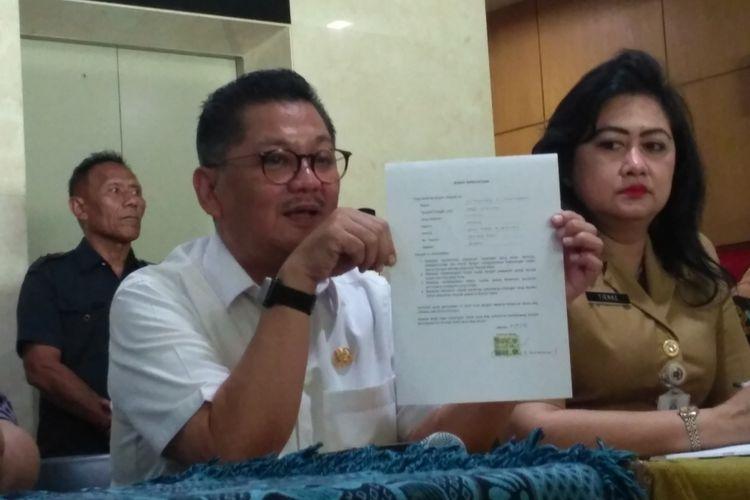 Kepala Dinas Kesehatan DKI Jakarta Koesmedi Priharto di kantornya, Jalan Kesehatan, Jakarta Pusat, Senin (11/9/2017).