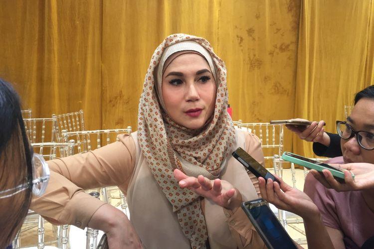 Marini Zurmanis ketika menghadiri kegiatan tentang kesehatan di Seibu Grand Indonesia, Thamrin, Jakarta Pusat, Kamis (14/9/2017).