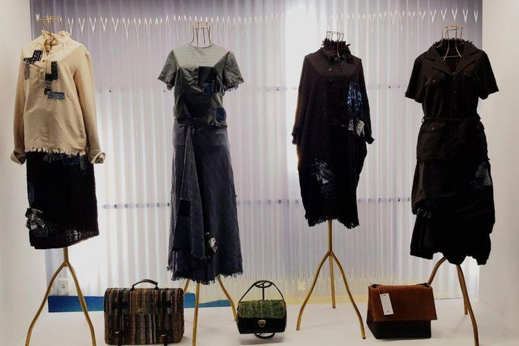 Koleksi Lekat yang akan ditampilkan di Paris Fashion Week 2017. Koleksi Lekat menggunakan tenun Baduy sebagai bahan dasar koleksi adibusananya.