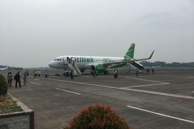 Ilustrasi pesawat Citilink.