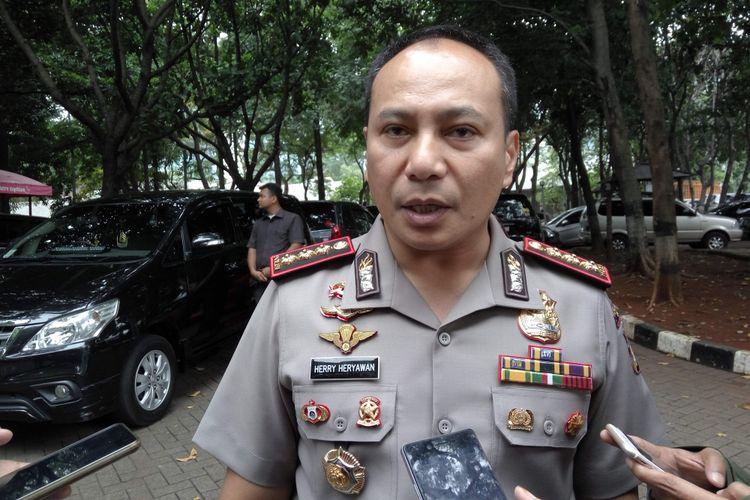 Kapolresta Depok Kombes Herry Heryawan saat di Mapolda Metro Jaya, Rabu (8/11/2017).