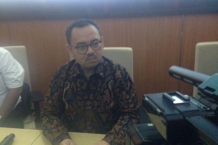 Bakal calon gubernur Jateng Sudirman Said di Undip Semarang, Rabu (3/1/2018).