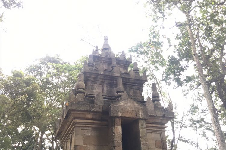 Candi Cangkuang, peninggalan Hindu Abad ke-8, di Desa Cangkuang, Kecamatan Leles, Kabupaten Garut, Jawa Barat, Sabtu (13/1/2018).