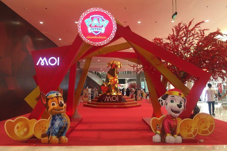 Perayaan tahun baru Imlek di tahun shio anjing di Mall of Indonesia mulai 19 Januari hingga 25 Februari 2018, Kelapa Gading Jakarta Utara, Sabtu (27/1/2018).