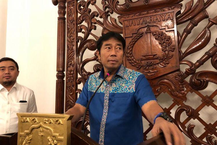 Wakil Ketua DPRD DKI Jakarta Abraham Lunggana di Balai Kota DKI, Senin (29/1/2018).