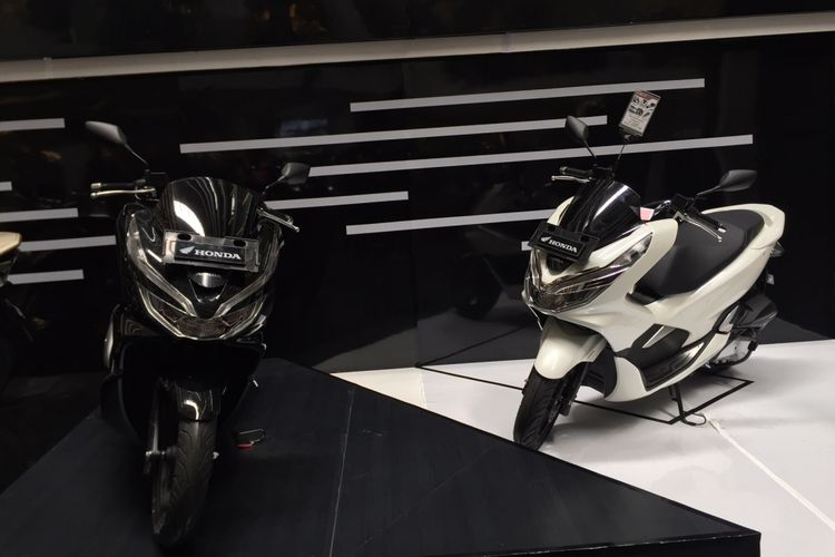 Peluncuran Honda PCX 150 di Mal Ciputra, Grogol, Sabtu (10/3/2018).