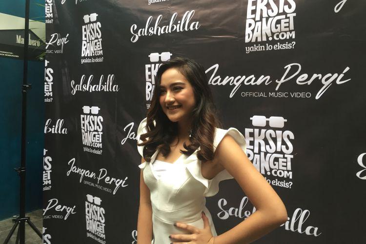 Salshabilla Adriani merilis singel ketiga, Jangan Pergi, di Jakarta pada Selasa (13/3/2018).
