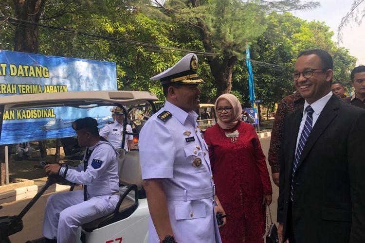 Gubernur DKI Jakarta Anies Baswedan di Kompleks Satuan Koarmabar I Pondok Dayung, Tanjung Priok, Jakarta Utara, Kamis (15/3/2018).