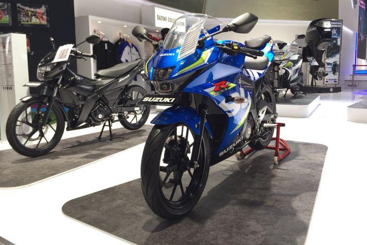 Produk sepeda motor sport Suzuki di ajang IIMS 2018
