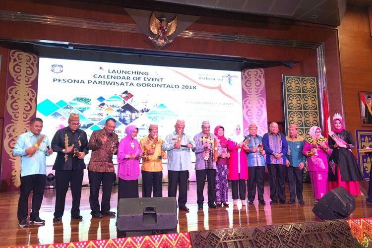 Lauching Calendar of Event Pariwisata Gorontalo 2018 di Gedung Kementrian Pariwisata, Jakarta, Rabu (25/4/2018) malam.
