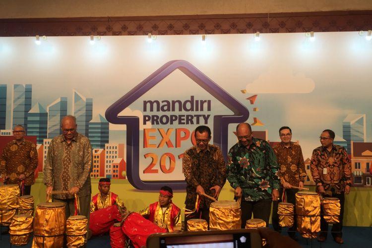 Pembukaan pameran Mandiri Property Expo 2018 di JCC, Sabtu (5/5/2018).
