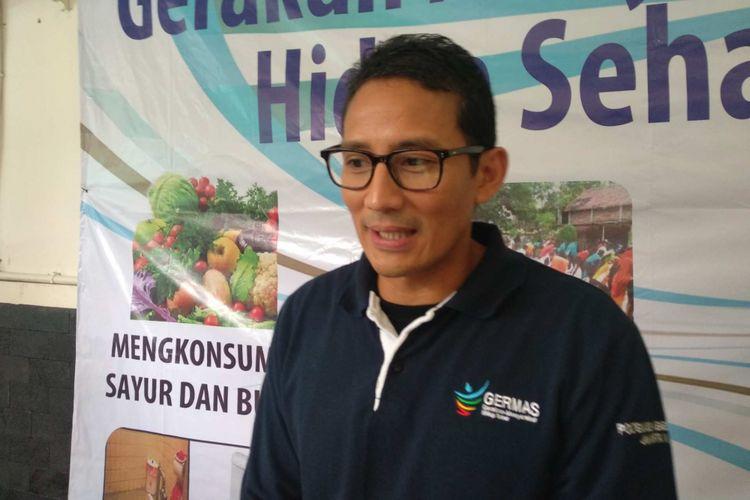 Wakil Gubernur DKI Jakarta Sandiaga Uno di SMKN 27 Jakarta, Selasa (15/5/2018).